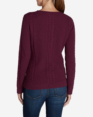 Eddie Bauer Women's Cable Fable Crew Sweater