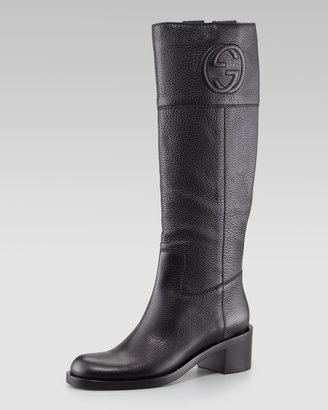 Gucci Soho GG Knee Boot