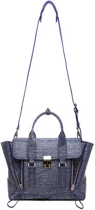 3.1 Phillip Lim Medium Pashli Trapeze in Cobalt & Antique White