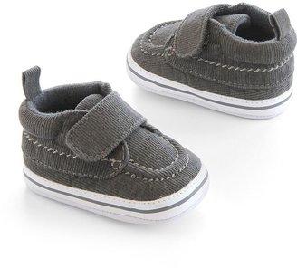 Carter's navy corduroy crib shoes - baby