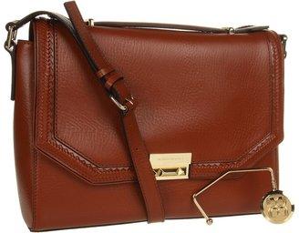 BCBGMAXAZRIA Gemma Leather Shoulder Bag (Cognac) - Bags and Luggage