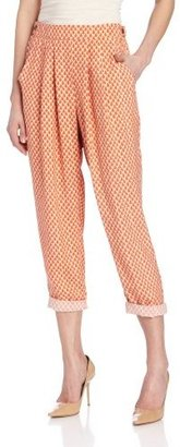 Plenty by Tracy Reese Women's Tiny Shields Cropped Convertible Pant