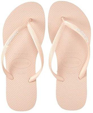 Havaianas Slim Logo Flip Flops (Ballet Rose) Women's Sandals