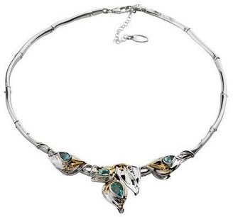 Hagit Gorali Gemstone Leaf Collar, Sterling/14KGold