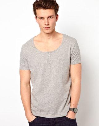 Asos T-Shirt With Grandad Scoop Neck