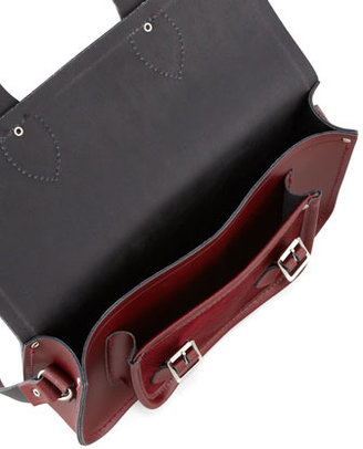 "Cambridge Silversmiths Satchel Company 11"" Leather Satchel, Oxblood (Stylist Pick!)"