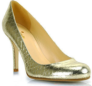 Kate Spade Karolina - Pump in Old Gold Metallic Leather