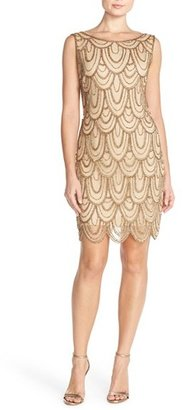 Women's Pisarro Nights Embellished Mesh Sheath Dress $148 thestylecure.com