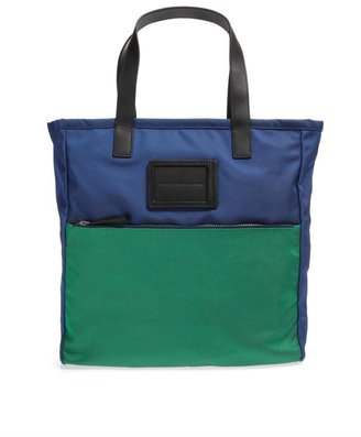 Marc by Marc Jacobs Two-tone leather-trim tote