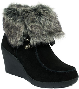 Khombu Booties, Slide Faux-Fur Cold Weather Booties