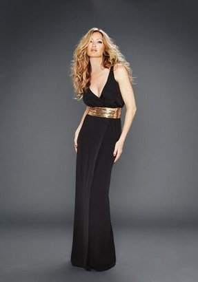 Glam by Caprice Plunge Neck Maxi Dress Dd