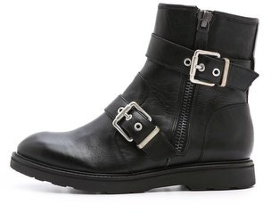 Luxury Rebel shoes Cleary Flat Buckle Booties