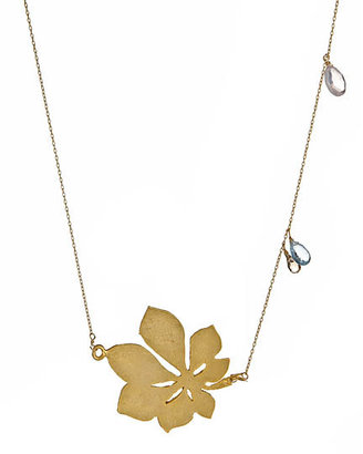 Wendy Mink Cutout flower necklace