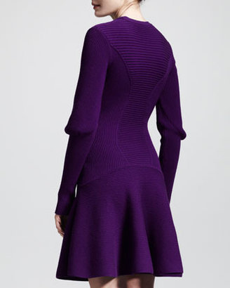 Alexander McQueen Ribbed Knit Snood Dress