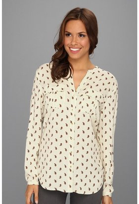 Vince Camuto TWO by Paisley Military Utilirty Shirt (Light Cream) - Apparel