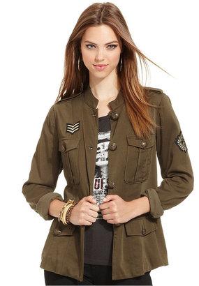 GUESS Jacket, Long-Sleeve Military Pocket