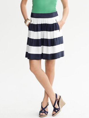 Banana Republic Striped Full Skirt