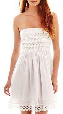 JCPenney Olsenboye® Ruffled Eyelet Dress