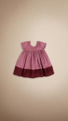 Burberry Corduroy Colour Block Dress