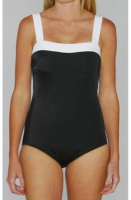 Jantzen Classics Black and White Contrast 1-piece Swimsuit $39.99 thestylecure.com