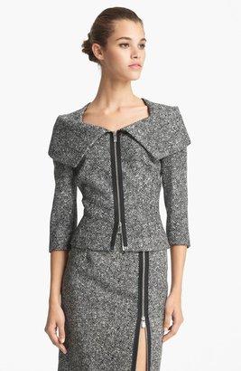 Michael Kors Origami Collar Tweed Jacket