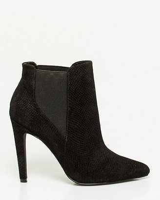 Le Château Snake Print Leather Pointy-toe Bootie