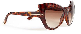 Tom Ford Brown Bardot Cat Eye Acetate Sunglasses