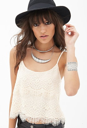 Forever 21 Tiered Lace Cami