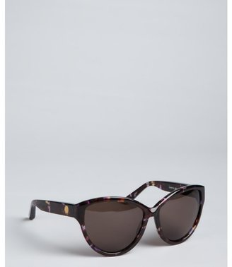 House Of Harlow brown and purple speckled acrylic 'Chantal' cat eye sunglasses