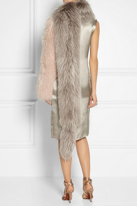 Lanvin Asiatic raccoon one-sleeve stole