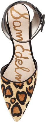 Sam Edelman Okala Leopard-Print Ankle-Wrap Pump