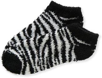 Aeropostale Zebra Fuzzy Ped Socks