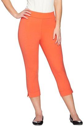 Women With Control Petite Contour Waist Pull-On Capri Pants