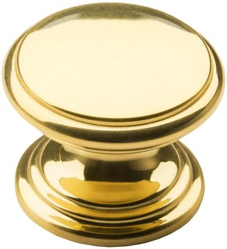 Valsan Brass Cabinet/Drawer Knob - 1-1/4""