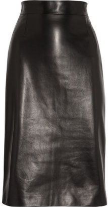 Alexander McQueen Leather pencil skirt