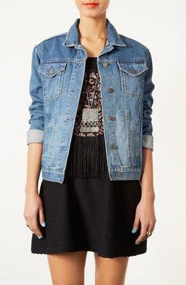 Topshop Moto 'Sylvie' Vintage Denim Jacket