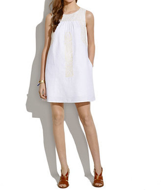 Madewell Mercado Shiftdress in Pure White