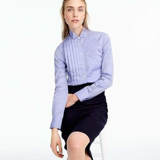 Thomas Mason® for J.Crew tuxedo shirt in blue $138 thestylecure.com