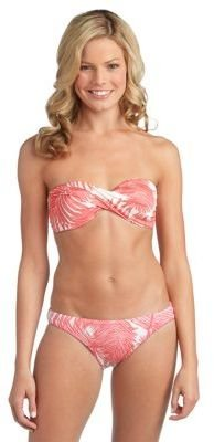 Vince Camuto Palm Print Bandeau Bikini Top