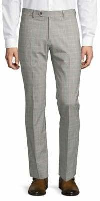 Tommy Hilfiger Slim Fit Plaid Wool-Blend Pants