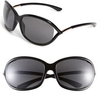 Women's Tom Ford Jennifer 61Mm Polarized Open Temple Sunglasses - Shiny Black/ Grey Polarized $455 thestylecure.com