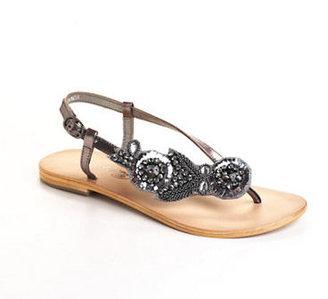 Naughty Monkey Odara Embellished Leather Sandals