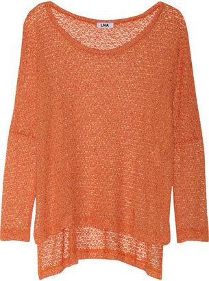 LnA Reyes Cape fine-knit sweater