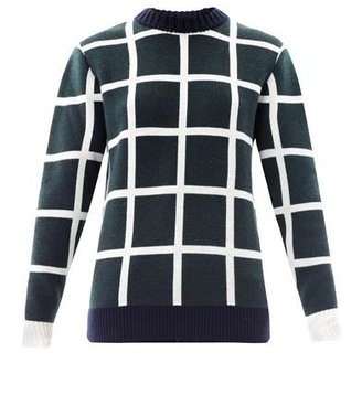 J.W.Anderson Window pane check sweater