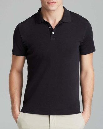Theory Boyd Census Solid Piqué Polo - Slim Fit $95 thestylecure.com