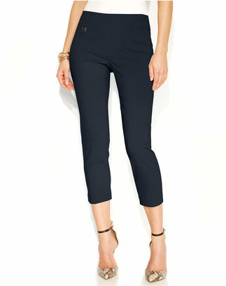 Alfani Petite Tummy-Control Pull-On Capri Pants, Created for Macy's $34.98 thestylecure.com