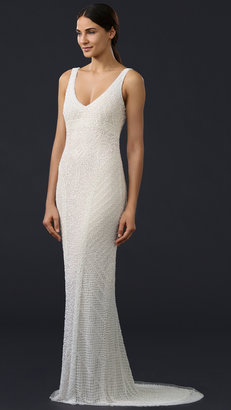 Theia Caitlin Sequin Deco Gown