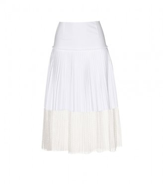 Stella McCartney PLEATED SKIRT WITH NET ACCENT