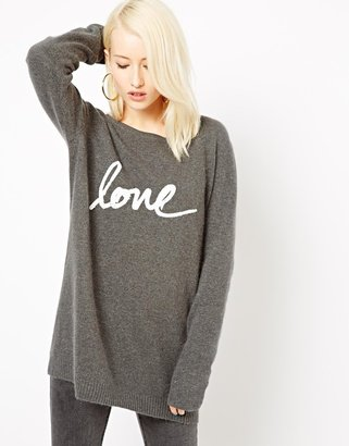 Illustrated People Italic Love Jumper Dress