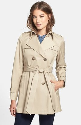 DKNY Double Breasted Trench Coat (Regular & Petite) (Online Only)